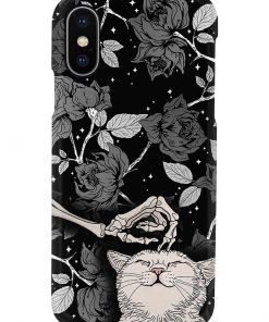 Cats And Skull Black Rose Tattoo phone case x