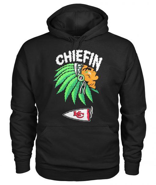 Chiefin Kansas City Chiefs Weed Hoodie