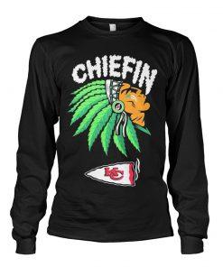 Chiefin Kansas City Chiefs Weed Long sleeve