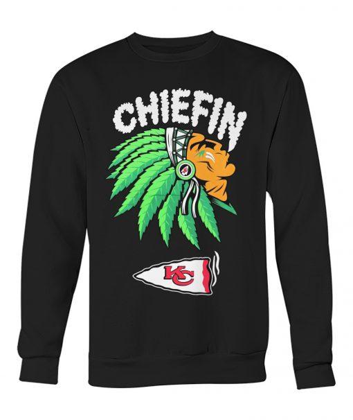 Chiefin Kansas City Chiefs Weed Sweatshirt