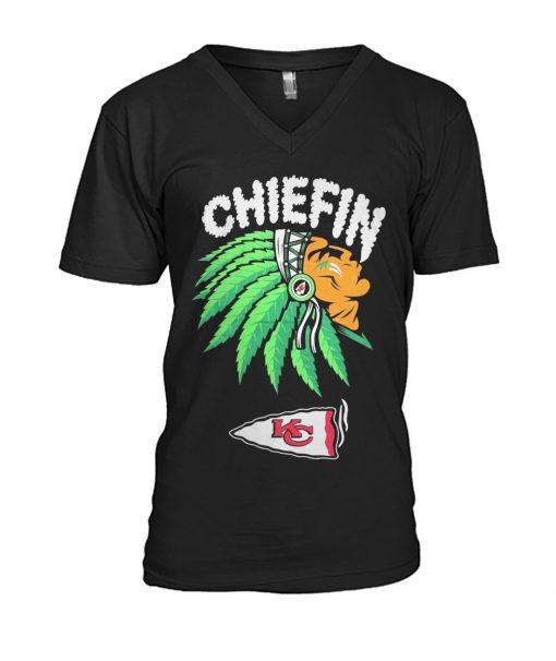 Chiefin Kansas City Chiefs Weed V-neck