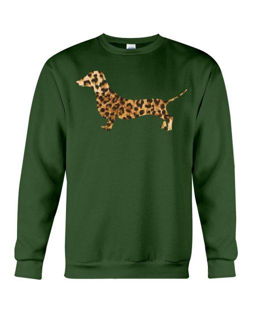 Dachshund Leopard sweatshirt