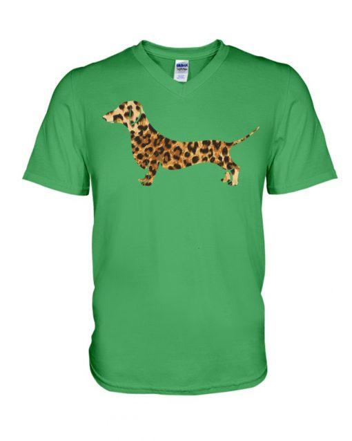 Dachshund Leopard v-neck