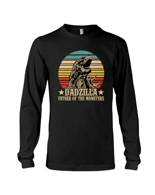 Dadzilla father of the monster vintage long sleeved