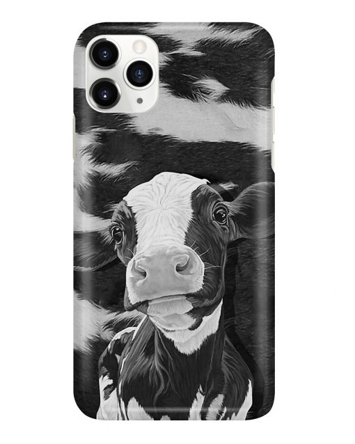 Dairy Cow black and white phone case 7