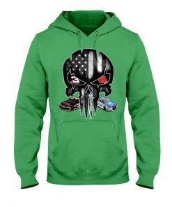 Dale Earnhardt Skull American flag hoodie