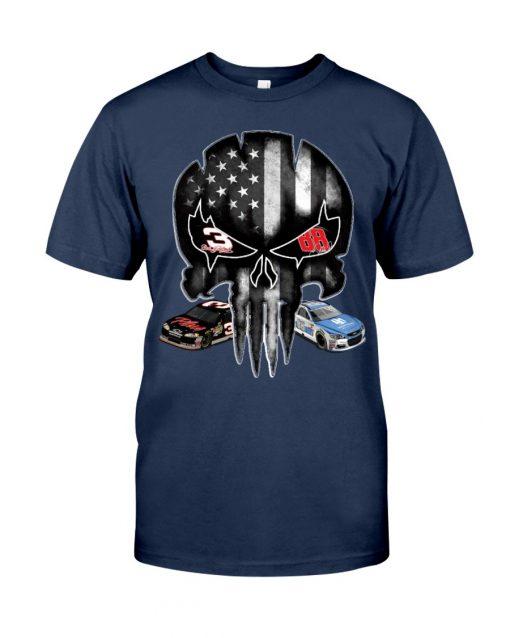 Dale Earnhardt Skull American flag shirt