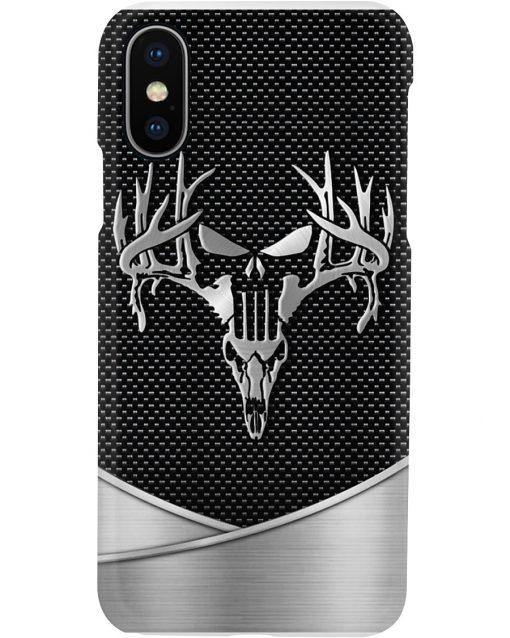 Deer Hunting Skull as metal phone case x