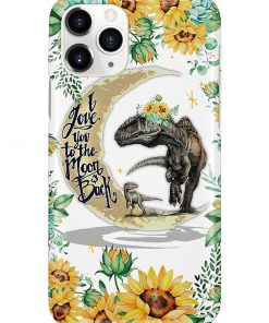 Dinosaur and Sunflower I love you the moon and back phone case 11
