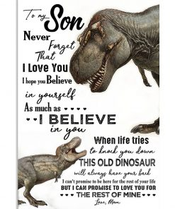 Dinosaurs Mom To my son never forget that i love you poster