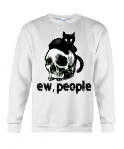 EW People Black Cat Skull sweatshirt