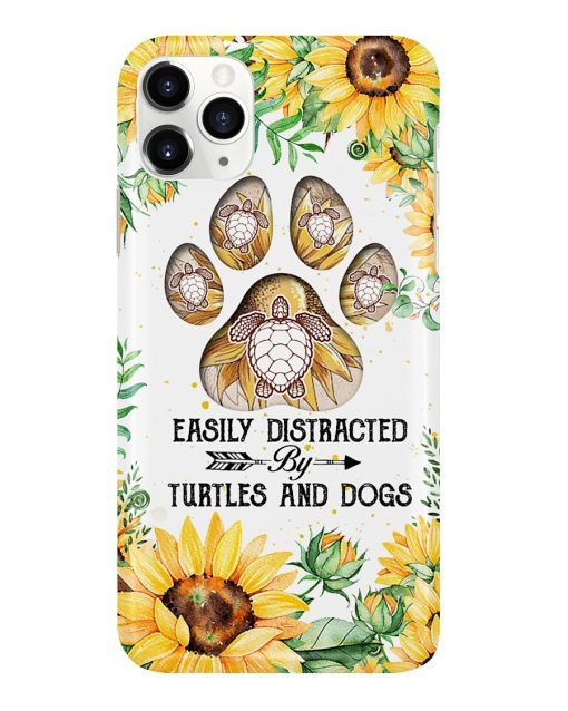 Easily distracted by turtles and dogs Sunflower phone case 11