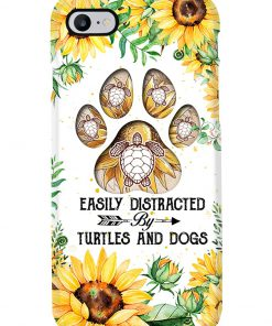 Easily distracted by turtles and dogs Sunflower phone case 7