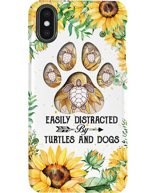 Easily distracted by turtles and dogs Sunflower phone case x