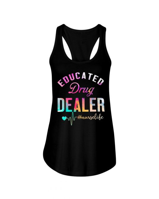 Educated drug dealer watercolor nurse tank top
