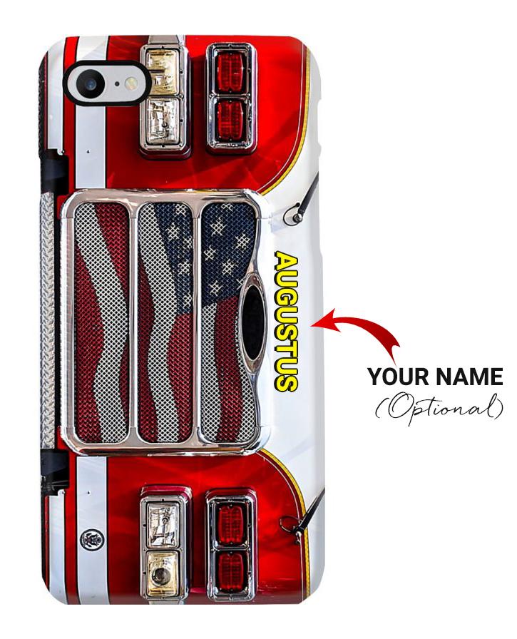 Firefighter Fire Truck phone case custom name