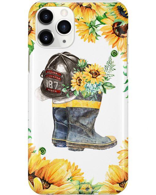 Firefighter Sunflower phone case 11