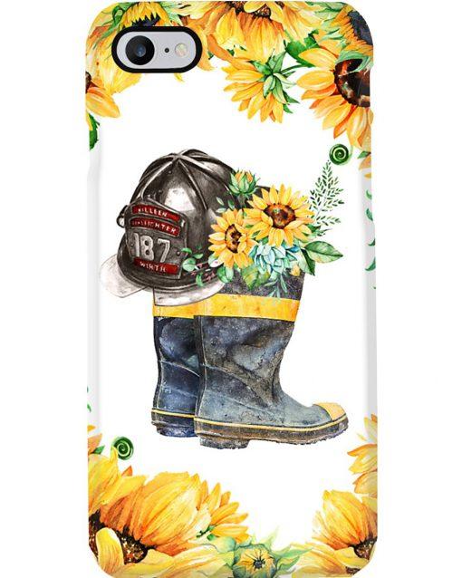 Firefighter Sunflower phone case 7