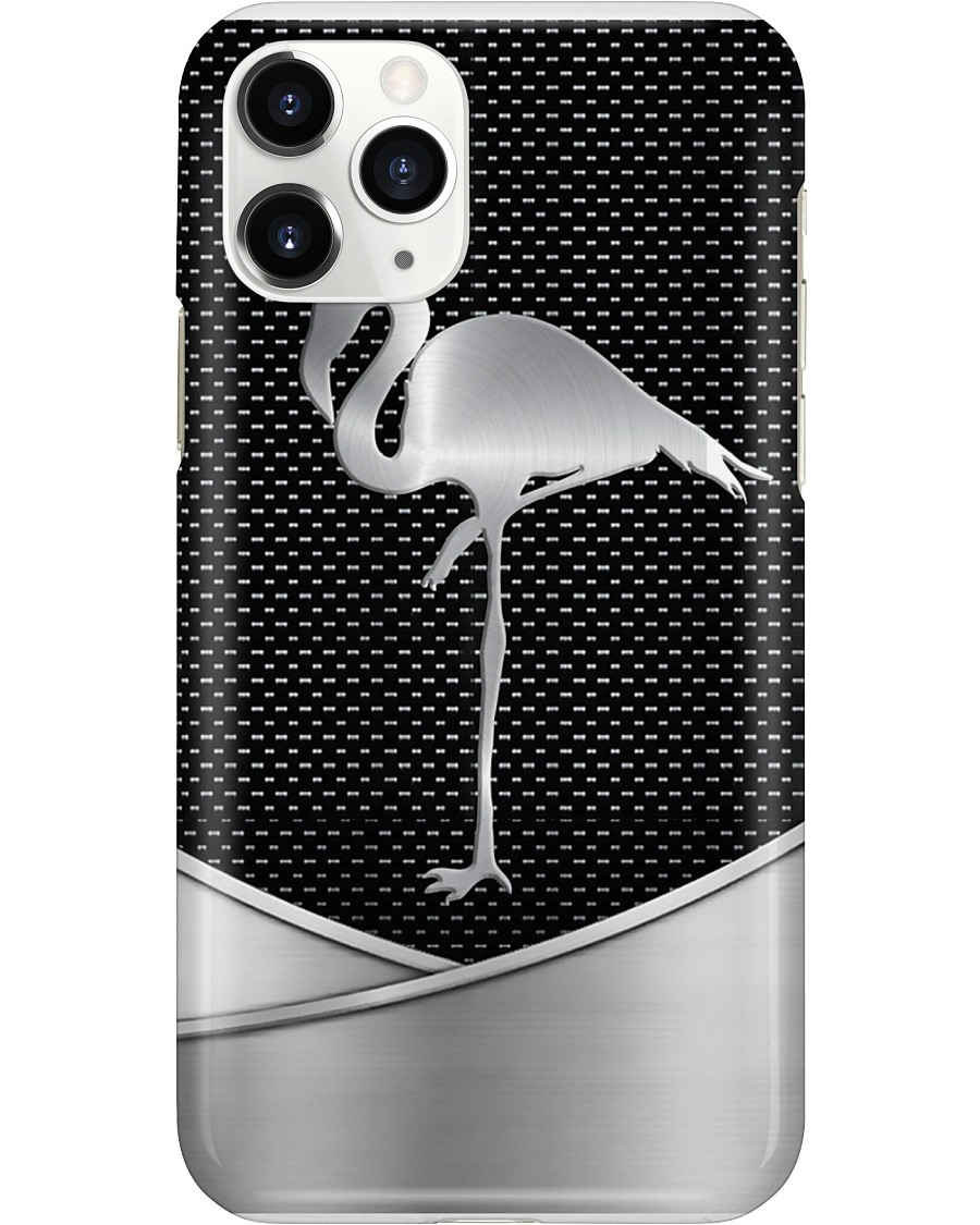 Flamingo as metal phone case 11