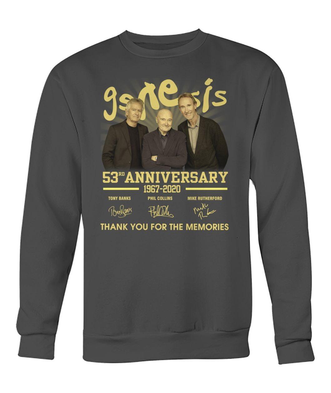 Genesis 53rd anniversary Thank you for the memories Sweatshirt