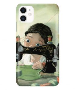 Girl Loves Sewing Drawing phone case iphone 11