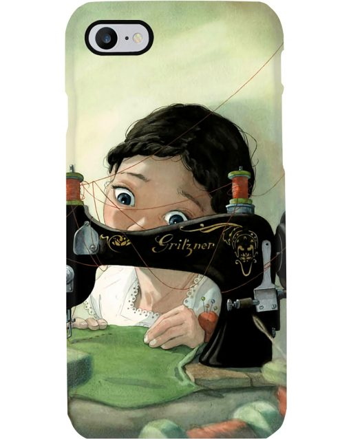 Girl Loves Sewing Drawing phone case iphone 7
