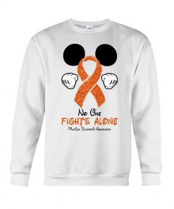 Glitter Mickey Mouse No one fight alone Multiple Sclerosis Awareness sweatshirt