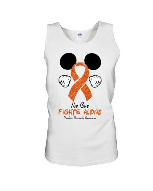 Glitter Mickey Mouse No one fight alone Multiple Sclerosis Awareness tank top
