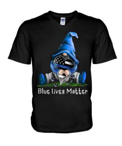 Gnome Patrick Thin Blue Line American Flag Blue Lives Matter T-shirt
