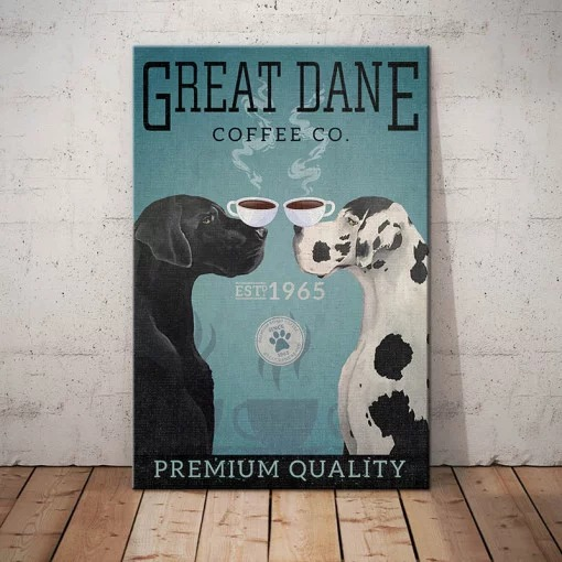Great Dane Dog Coffee Company poster