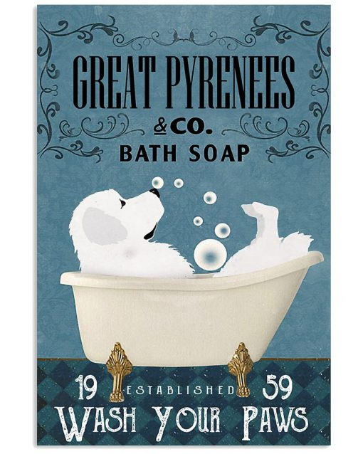 Great Pyrenees Bath Soap Company Wash Your Paws poster 1