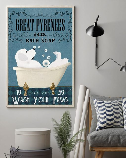 Great Pyrenees Bath Soap Company Wash Your Paws poster 2