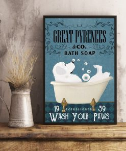 Great Pyrenees Bath Soap Company Wash Your Paws poster 3