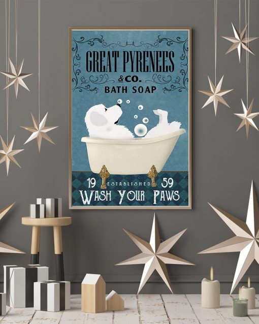 Great Pyrenees Bath Soap Company Wash Your Paws poster 4
