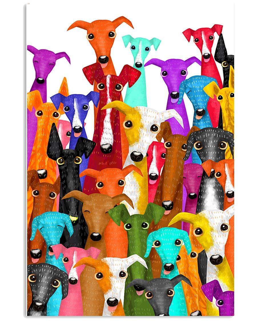 Greyhound Dog illustration poster 1