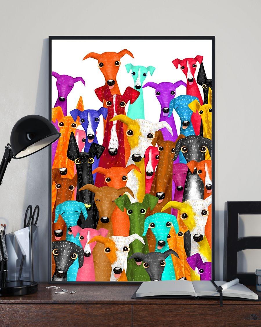 Greyhound Dog illustration poster 2