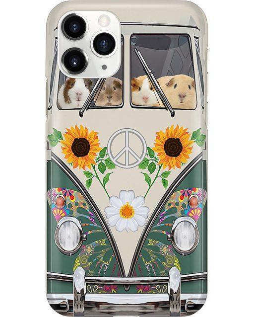 Guinea Pig VW Volkswagen Beetle bugs Hippie flowers phone case 11