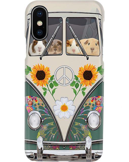 Guinea Pig VW Volkswagen Beetle bugs Hippie flowers phone case X