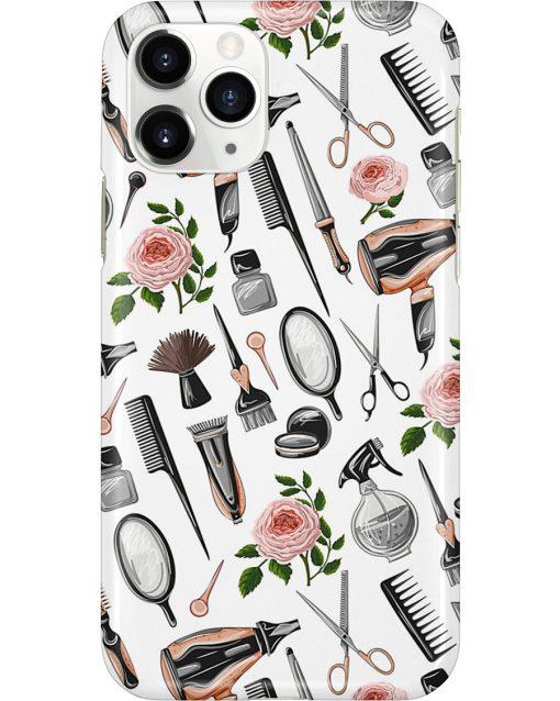 Hairdresser Tools Flower phone case 11
