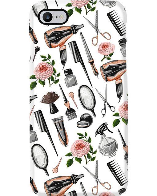 Hairdresser Tools Flower phone case 7