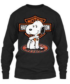 Harley Davidson Snoopy tatoo Long sleeve