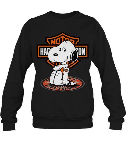 Harley Davidson Snoopy tatoo SweatShirt