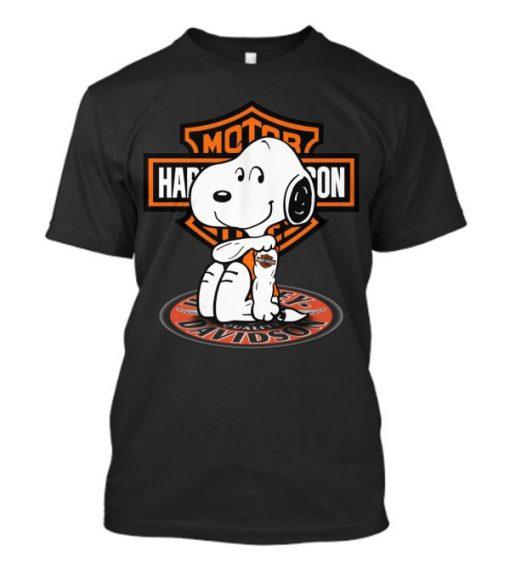 Harley Davidson Snoopy tatoo T-Shirt