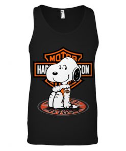 Harley Davidson Snoopy tatoo Tank top