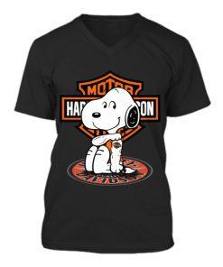 Harley Davidson Snoopy tatoo V-neck