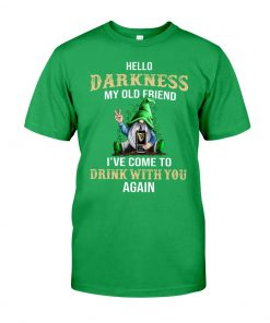 Hello darkness my old friend drink Guinness Patrick's Day shirt