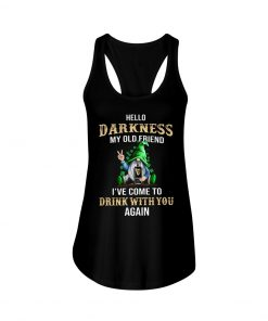 Hello darkness my old friend drink Guinness Patrick's Day tank top