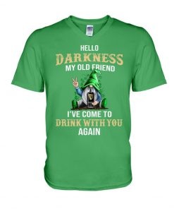 Hello darkness my old friend drink Guinness Patrick's Day v-neck