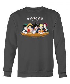 Heroes Manga characters eating Sweatshirt