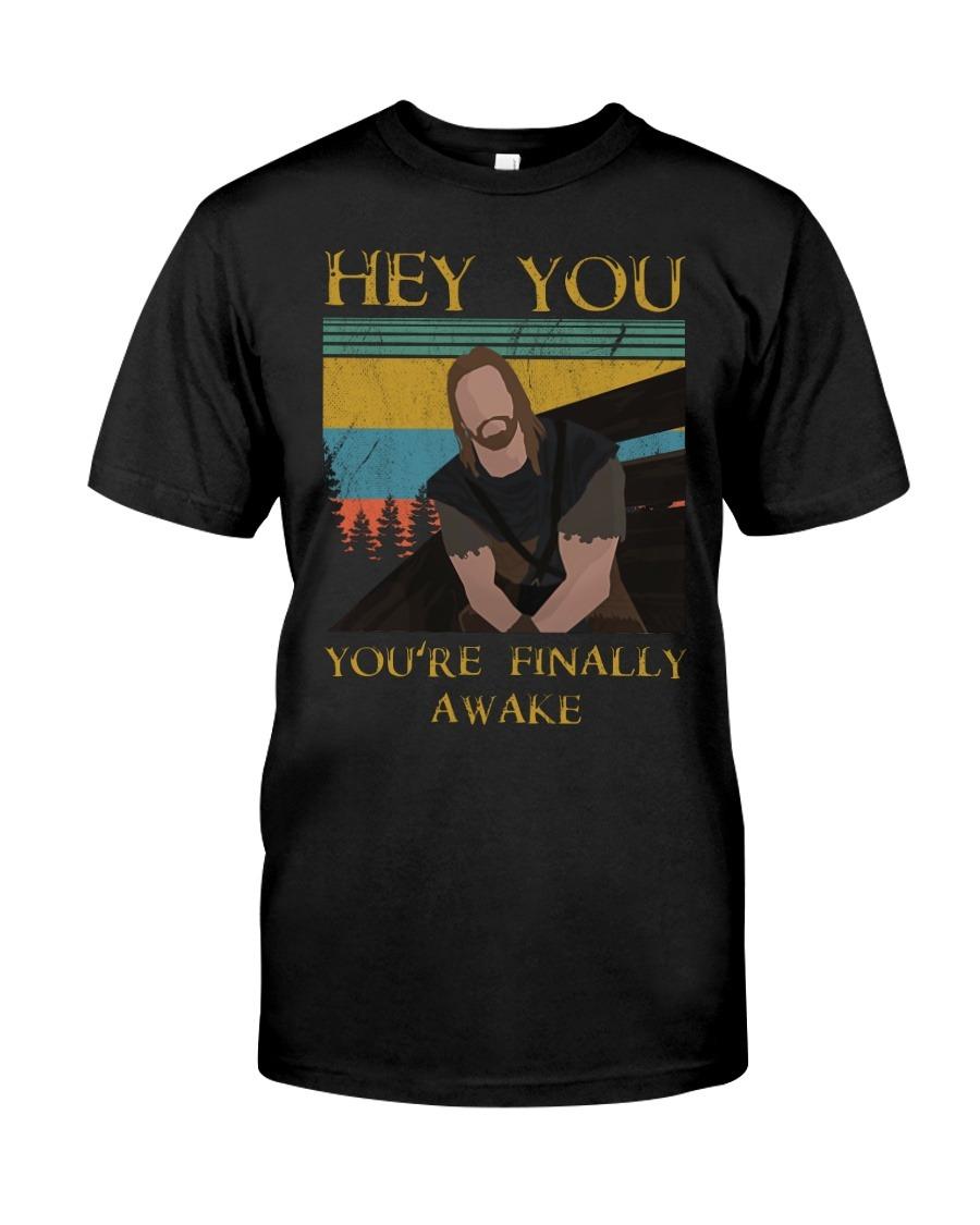 Hey You You're Finally Awake vintage T-shirt